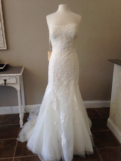 Pronovias Off White Lace Phoenix Feminine Wedding Dress Size 14 (L)