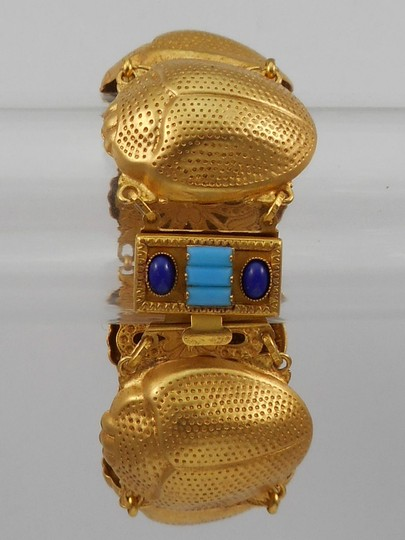 Askew London Askew London 'Egyptian Revival' Bulbous Scarab Link Bracelet