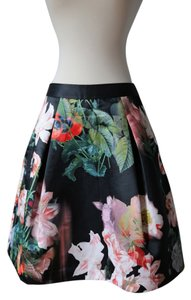 Ted Baker Floral Tutu Print Bloom Skirt Black (with multi-color flowers)