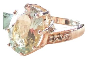 Other Gorgeous 5.85ctw Platinum Green Amethyst and Topaz 925 Sterling Silver Ring 7