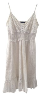 Wet Seal short dress White 60's 70's Ruched on Tradesy