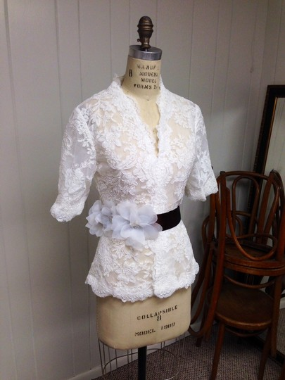 Espresso Sash With Light Ivory Flowers Size 10/12