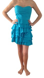 Minuet Petite Turqoise Ruffle Fun Dress