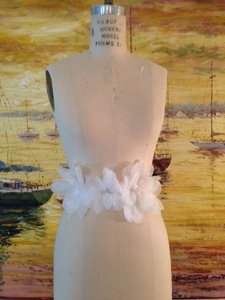Champagne Sash With Light Ivory Flowers Size 6
