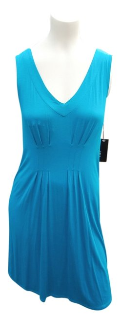 a.n.a. a new approach short dress CARIBBEAN SEA Lightweight Rayon Blend Sleeveless on Tradesy
