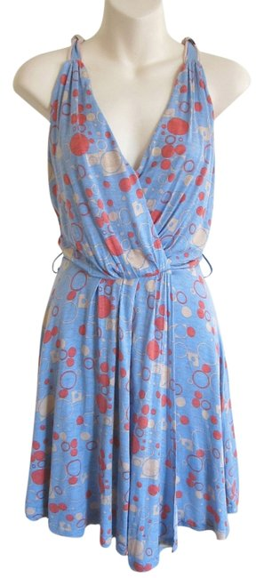 Modcloth short dress blue Faux Wrap Summer Beach Drape Soft on Tradesy