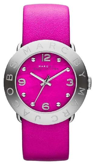 Marc by Marc Jacobs NEW Marc by Marc Jacobs Women Pink Leather Amy Watch large MBM1286