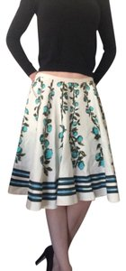 Louis Vuitton Skirt White, blue, teal