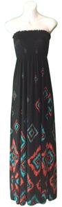 Black Multi Maxi Dress by Forever 21 Maxi Maxi