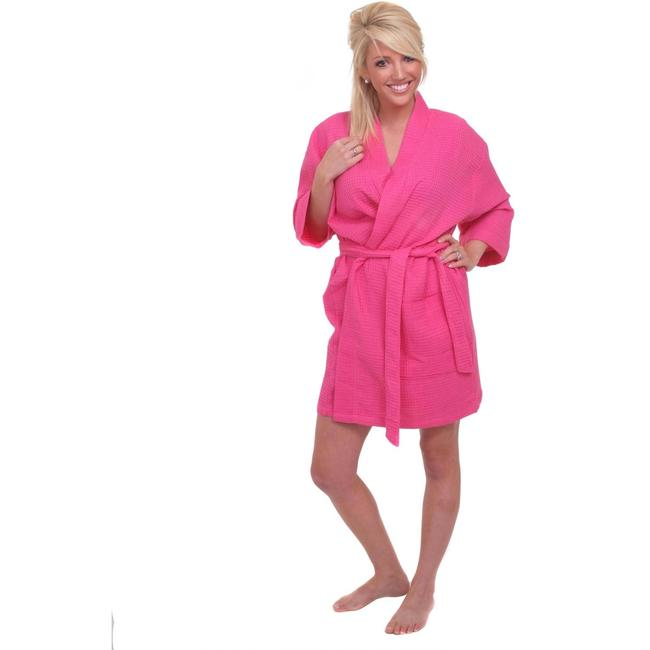 Item - Bright Pink Kimono 8 Bridesmaid Robes - Waffle Weave - New with Tags Bath Accessory