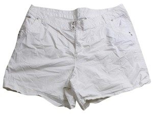 Just My Size 26w Cotton Jms 44 Inch Waist Plus Clothing Womens Mini/Short Shorts White