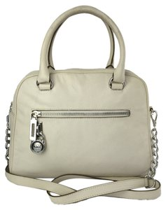 Michael by Michael Kors Knox White Leather Satchel