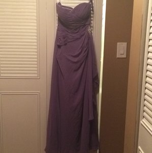 Bill Levkoff Amethyst Chiffon Formal Bridesmaid/Mob Dress Size 4 (S)