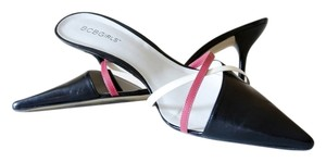 BCBGeneration Leather Strappy Black, Cream, Coral, Pink Pumps