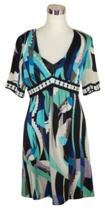 Elie Tahari short dress Blue Silk Turquoise on Tradesy