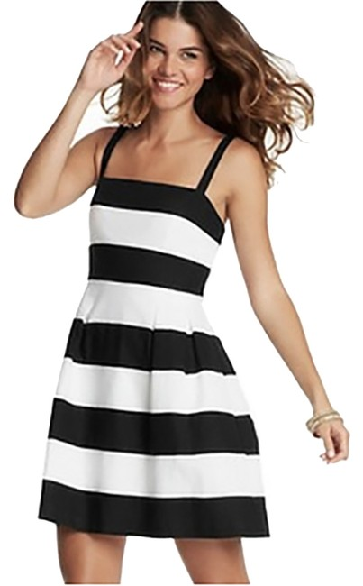 Ann Taylor LOFT short dress Black & White Striped Sundress on Tradesy