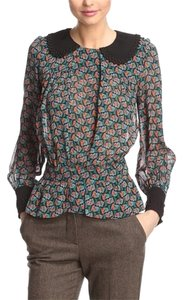 Anna Sui Top Black, blue, orange