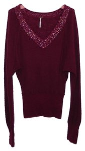 Free People Wool Hand Wash Sequin Sweater