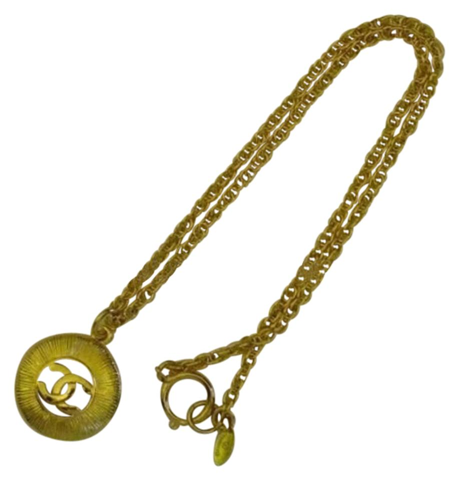 necklaces necklace plated us brass lxrandco en tone medallion large chanel on gold lion
