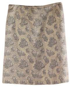Miu Miu Toile Gold Beige Skirt Metallic
