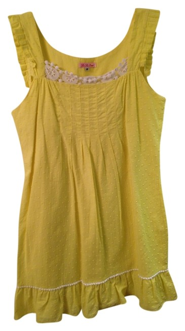 Lu Lu Lame' short dress Yellow on Tradesy