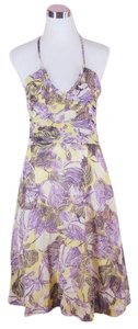Anthropologie short dress Purple Halter on Tradesy