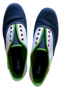 Keds white, navy, green Athletic