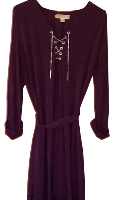 Preload https://item5.tradesy.com/images/michael-kors-purple-chain-laced-mid-length-short-casual-dress-size-10-m-5030044-0-0.jpg?width=400&height=650