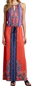 Reddish Orange Maxi Dress by Clover Canyon