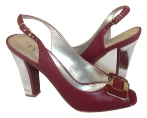 Nicole Miller Burgundy Sandals