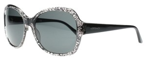 Versace Versace Sunglasses Large Clear Lace and Black 57mm