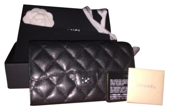 Chanel Chanel,caviar,wallet,with,silver,hardware
