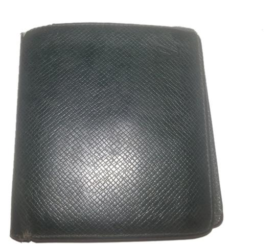 Louis Vuitton Louis Vuitton Green Leather Taiga Leather Bifold Slender Wallet