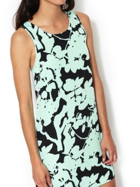 The Letter short dress Mint and Black on Tradesy