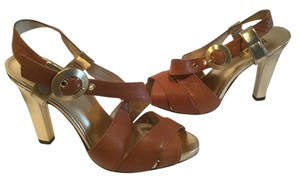 Michael by Michael Kors Brown and gold Sandals