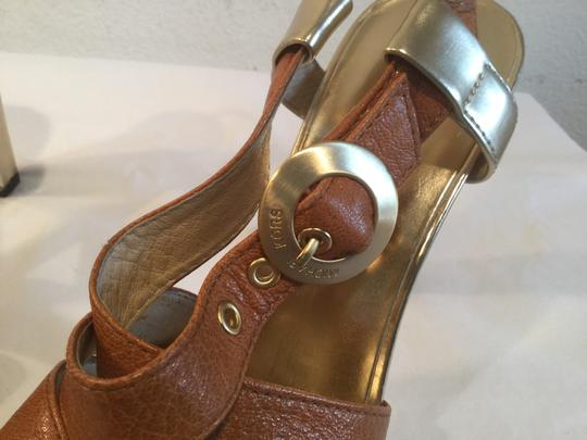 MICHAEL Michael Kors Brown and gold Sandals