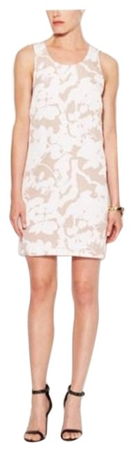 Item - Nude and White Shadow Floral Ivory/Nude Above Knee Short Casual Dress Size 4 (S)