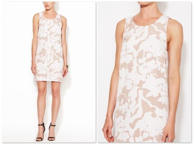 The Letter short dress Nude and White on Tradesy