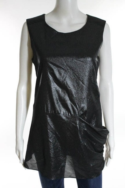 Preload https://item3.tradesy.com/images/nicole-miller-metallic-black-leather-inset-silk-tunic-size-6-s-5034997-0-0.jpg?width=400&height=650