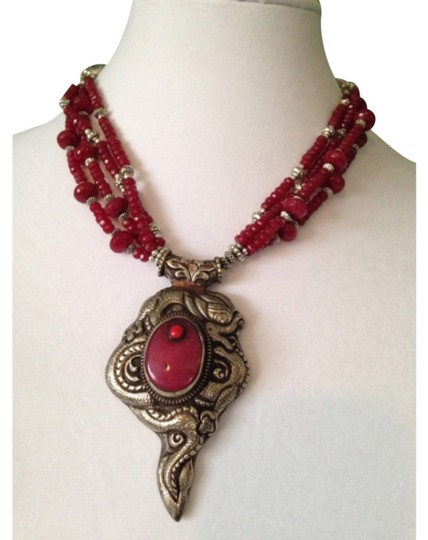 Preload https://item5.tradesy.com/images/redsilver-embellished-by-leecia-only-matching-pieces-sold-seperately-necklace-5035969-0-0.jpg?width=440&height=440