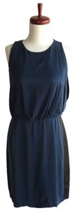 Rebecca Taylor Blue Silk Sheath Lace Dress