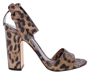 Dolce&Gabbana Dolce & Gabbana Leather Leopard Brown Sandals