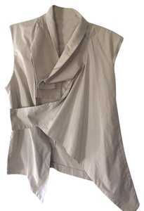 Soo Kei Designer X-small Never Been Worn Edgy Hip beige Halter Top