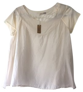 Malini Sulaika New With Tags Silk Designer Feminine T Shirt cream / off-white