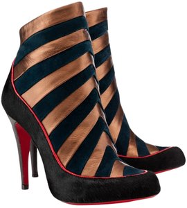 Christian Louboutin Amor Pony Hair Black, green, gold Boots