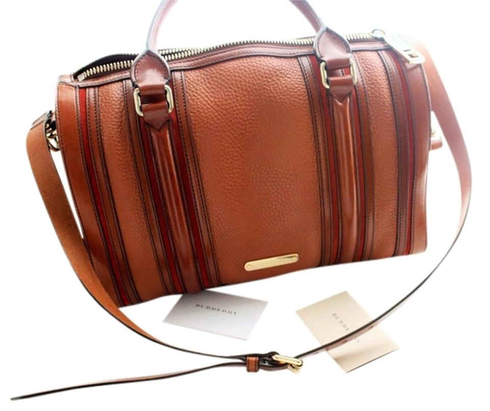 Burberry Leather Gifts Bowling Like New New Accessories Satchel in Brown  Image 0 ... 6bf328f672a49