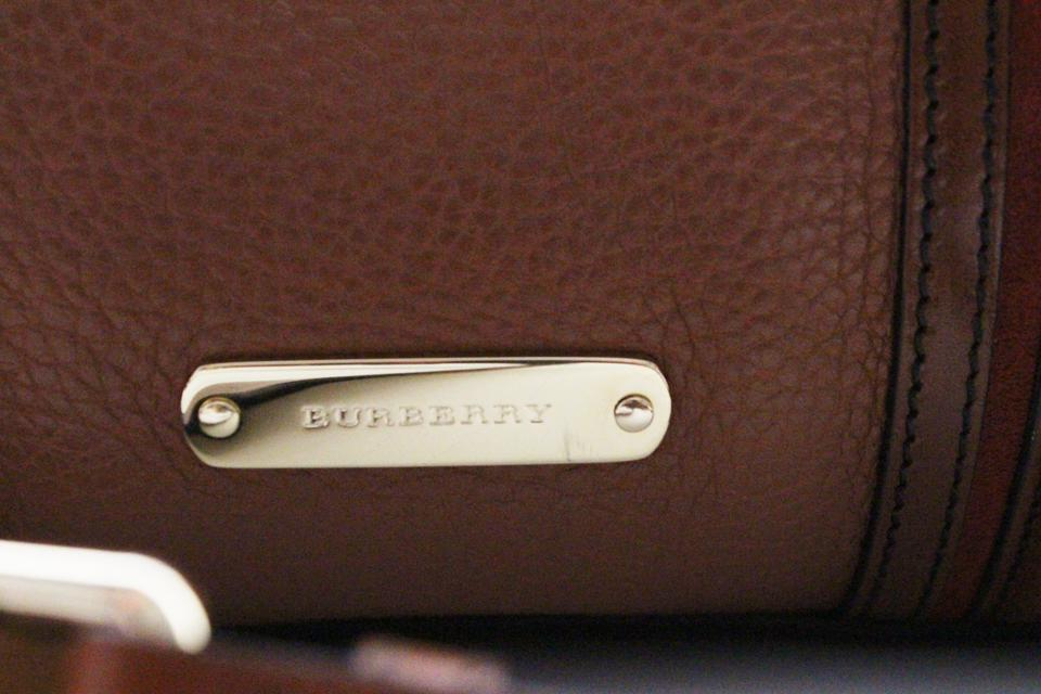 eb30c637c54 Burberry Leather Gifts Bowling Like New New Accessories Satchel in Brown.  12345678