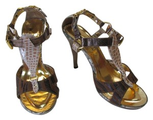Other Very Good Condition Size 9.00 Animal Designs BROWN, BRONZE, GOLD, NEUTRAL Sandals