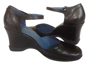 Nine West Black Leather Upper Wedges