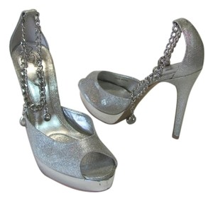 Baby Phat Good Condition Size 7.50 Silver Platforms